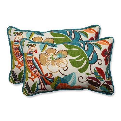 Outdoor Lensing Jungle Rectangular Throw Pillow, Set of 2