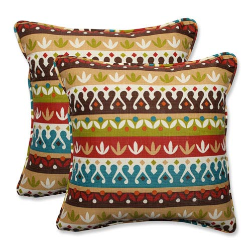 Outdoor Cotrell Jungle 18.5-inch Throw Pillow, Set of 2