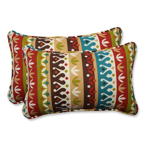 Outdoor Cotrell Jungle Rectangular Throw Pillow, Set of 2