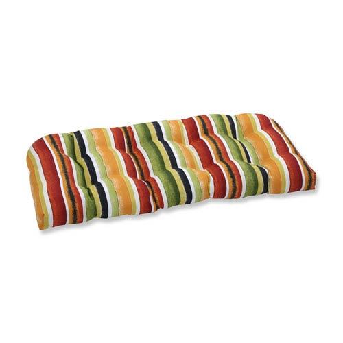 Outdoor Dina Noir Wicker Loveseat Cushion