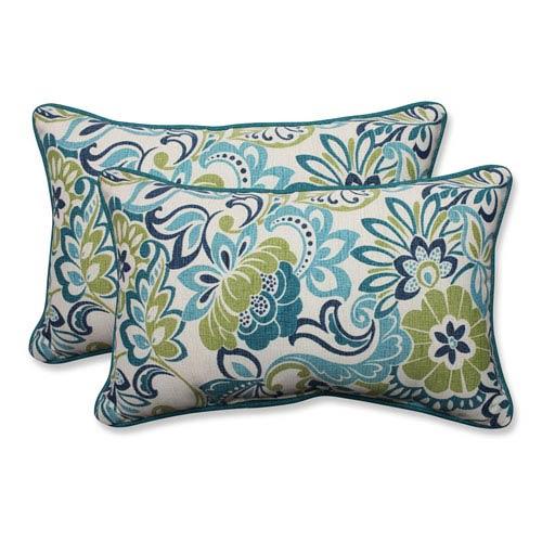 Outdoor Zoe Mallard Rectangular Throw Pillow, Set of 2