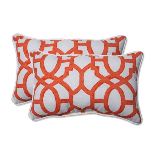 Outdoor Nunu Geo Mango Rectangular Throw Pillow, Set of 2