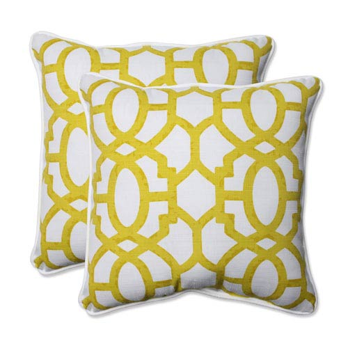 Outdoor Nunu Geo Wasabi 18.5-inch Throw Pillow, Set of 2