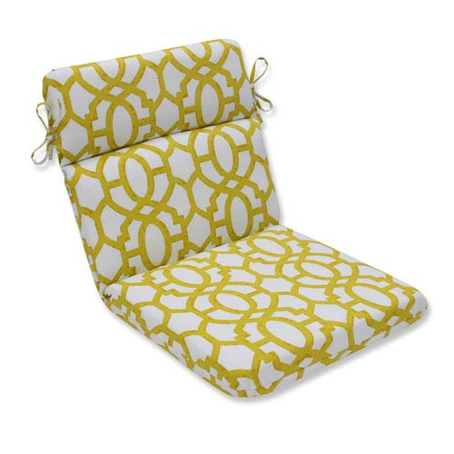 Outdoor Nunu Geo Wasabi Rounded Corners Chair Cushion