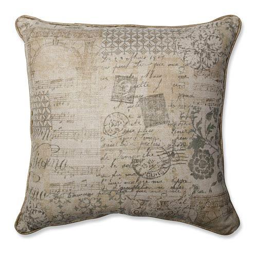 Documented Vermeil 18-inch Throw Pillow