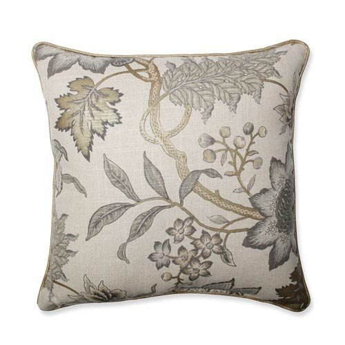 Jacobean Flair Vermeil 18-Inch Throw Pillow