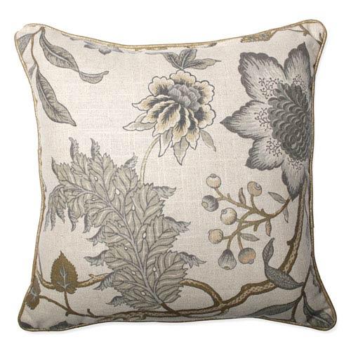 Jacobean Flair Vermeil 16.5-inch Throw Pillow