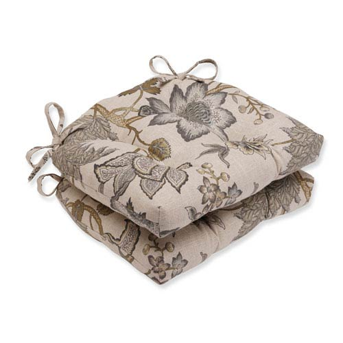 Jacobean Flair Vermeil Reversible Chair Pad, Set of 2