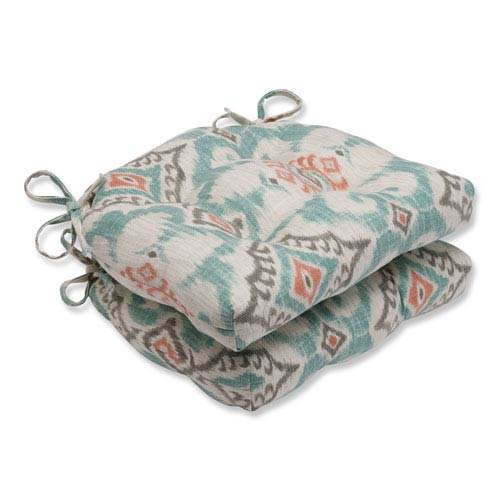 Kantha Surf Reversible Chair Pad, Set of 2