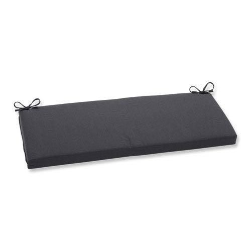 Outdoor Tweed Black Bench Cushion