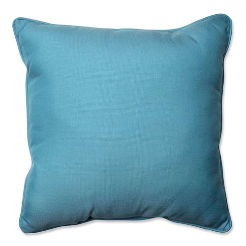 Outdoor Tweed Aqua 25-Inch Floor Pillow