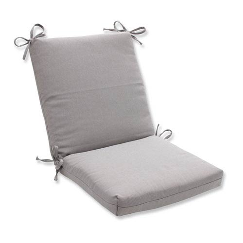 Outdoor Tweed Gray Squared Corners Chair Cushion