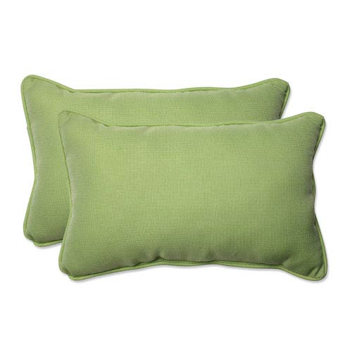 Outdoor Tweed Lime Rectangular Throw Pillow, Set of 2