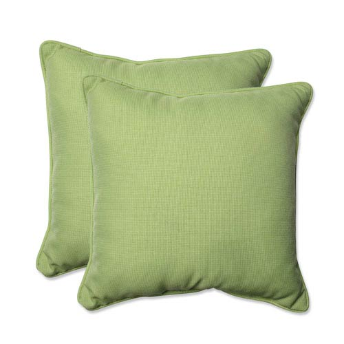 Outdoor Tweed Lime 18.5-inch Throw Pillow, Set of 2