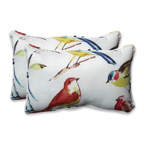 Outdoor / Indoor Bird Watchers Summer Rectangular Throw Pillow (Set of 2)