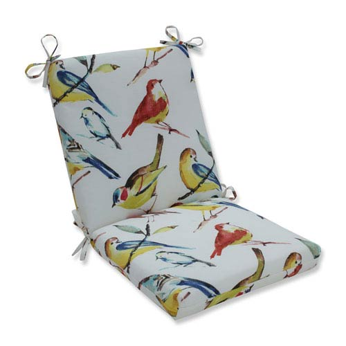 Outdoor / Indoor Bird Watchers Summer Squared Corners Chair Cushion