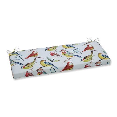 Outdoor / Indoor Bird Watchers Summer Bench Cushion