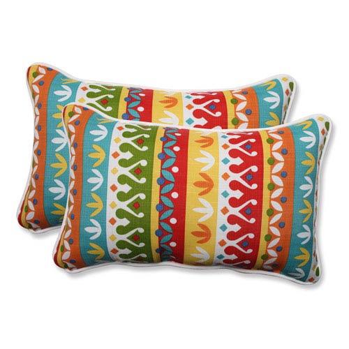 Outdoor Cotrell Garden Rectangular Throw Pillow, Set of 2