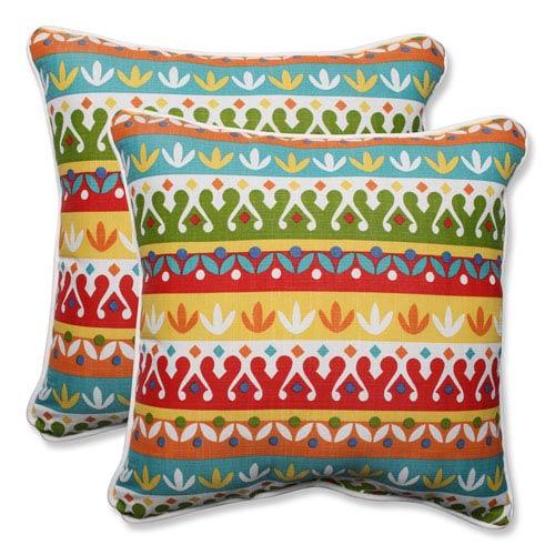 Outdoor Cotrell Garden 18.5-inch Throw Pillow, Set of 2