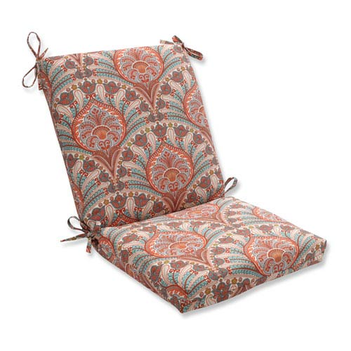 Outdoor Crescent Beach Coral Squared Corners Chair Cushion