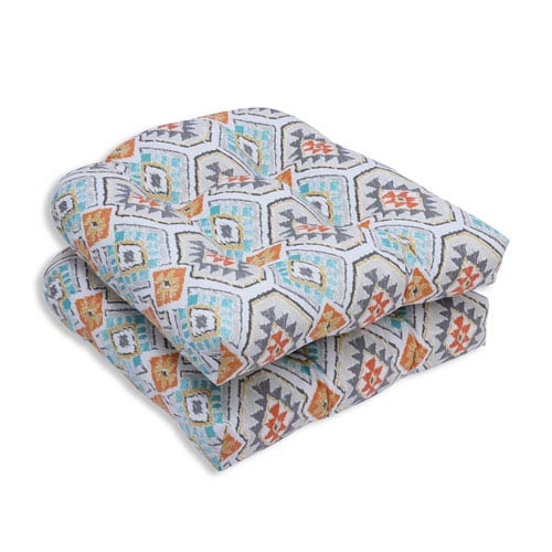 Outdoor Eresha Oasis Wicker Seat Cushion, Set of 2
