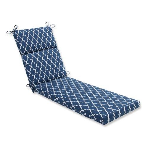 Outdoor Garden Gate Navy Chaise Lounge Cushion