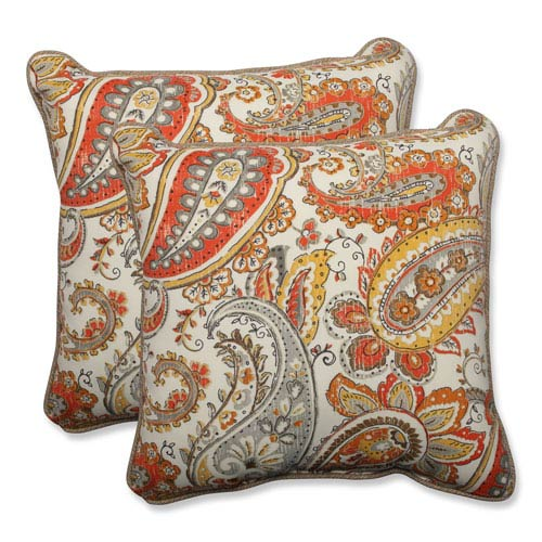 Outdoor Hadia Sunset 18.5-inch Throw Pillow, Set of 2