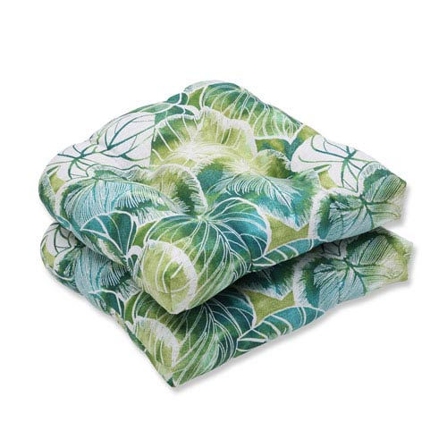 Outdoor Key Cove Lagoon Wicker Seat Cushion, Set of 2