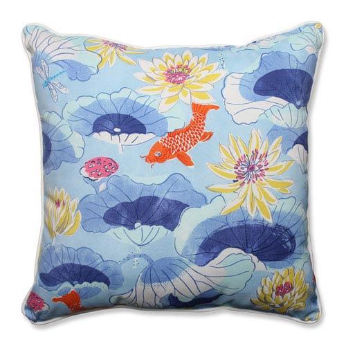 Outdoor Lotus Lake Cobalt 25-inch Floor Pillow