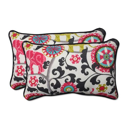 Outdoor Menagerie Spectrum Rectangular Throw Pillow, Set of 2