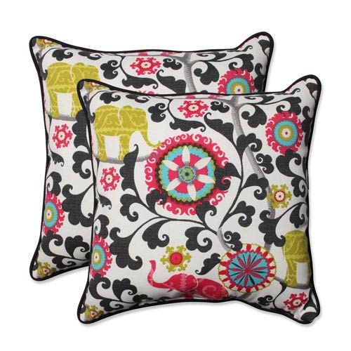 Outdoor Menagerie Spectrum 18.5-inch Throw Pillow, Set of 2