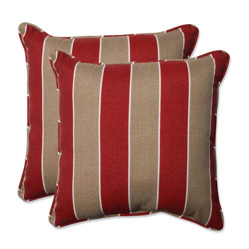 Outdoor Wickenburg Cherry 18.5-inch Throw Pillow, Set of 2
