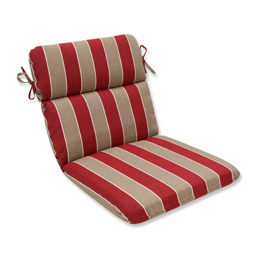 Outdoor Wickenburg Cherry Rounded Corners Chair Cushion