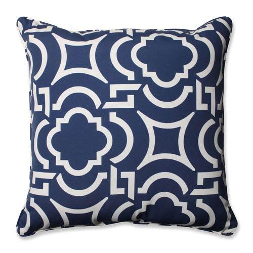 Outdoor Carmody Navy 25-inch Floor Pillow