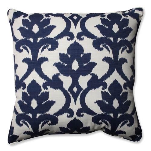 Outdoor Basalto Navy 25-inch Floor Pillow