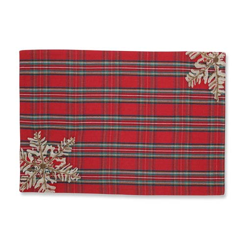 Stuart Red Placemat (Set of 2)