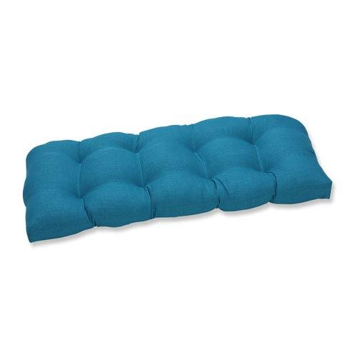 Outdoor / Indoor Rave Peacock Wicker Loveseat Cushion