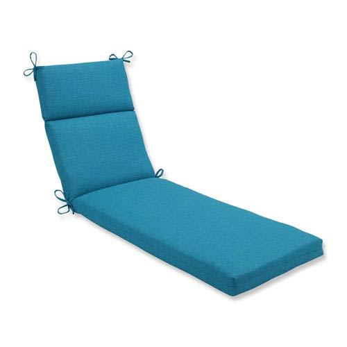 Pillow Perfect Outdoor / Indoor Rave Peacock Chaise Lounge Cushion