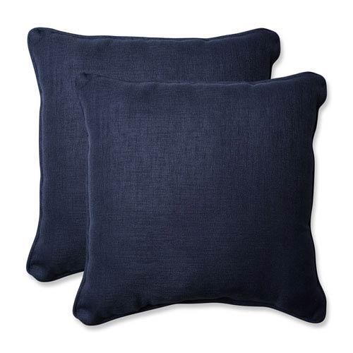 Outdoor / Indoor Rave Indigo 18.5-Inch Throw Pillow (Set of 2)