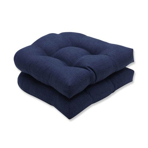 Outdoor / Indoor Rave Indigo Wicker Seat Cushion (Set of 2)