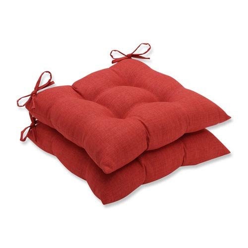 Outdoor / Indoor Rave Flame Wrought Iron Seat Cushion (Set of 2)