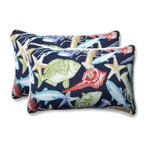 Pillow Perfect Outdoor / Indoor Keyisle Regata Rectangular Throw Pillow (Set of 2)