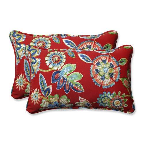 Outdoor / Indoor Daelyn Cherry Rectangular Throw Pillow (Set of 2)