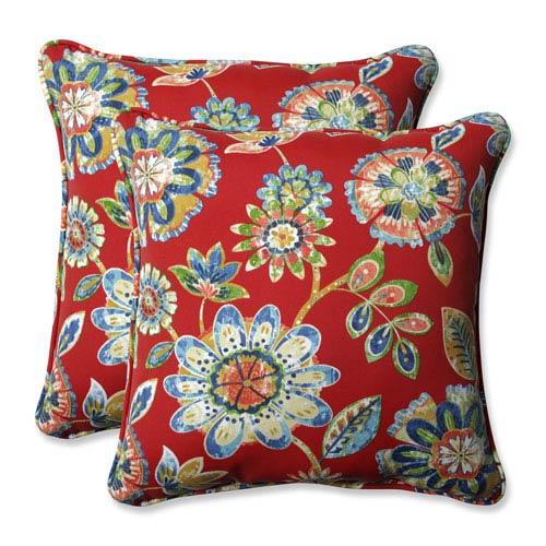 Outdoor / Indoor Daelyn Cherry 18.5-inch Throw Pillow (Set of 2)
