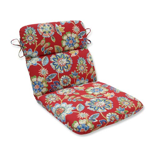 Pillow Perfect Outdoor / Indoor Daelyn Cherry Rounded Corners Chair Cushion