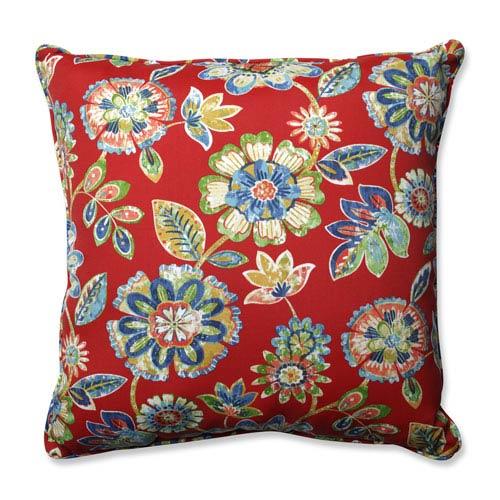 Pillow Perfect Outdoor / Indoor Daelyn Cherry 25-inch Floor Pillow