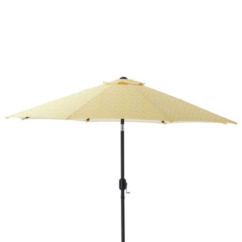 Herringbone Egg Yolk 9-foot Patio Market Umbrella