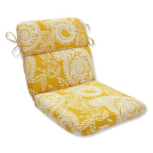 Outdoor / Indoor Addie Egg Yolk Rounded Corners Chair Cushion