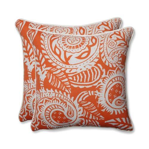 Outdoor / Indoor Addie Terra Cotta 18.5-inch Throw Pillow (Set of 2)