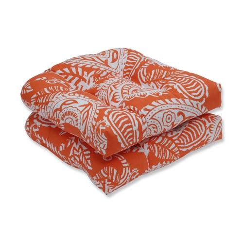Outdoor / Indoor Addie Terra Cotta Wicker Seat Cushion (Set of 2)